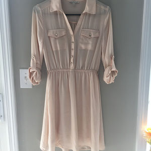 Blush Button Up Dress